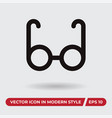 eyeglasses icon in modern style for web site and vector image vector image