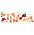 female hand care nails salon manicure tools vector image