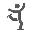 figure skating glyph icon sport and skate ice vector image vector image