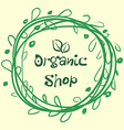 Flat label collection of 100 organic product and vector image