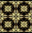gold ornate baroque seamless pattern ornamental vector image vector image