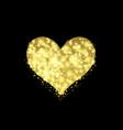 golden valentine heart vector image vector image