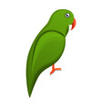 green parrot icon cartoon style vector image vector image
