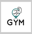 gym point logo vector image vector image