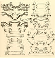 hand drawn ribbons for design vector image