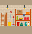 house cellar background flat style vector image vector image
