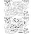 koala maze vector image vector image