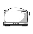 line technology toaster electric kitchen utensil vector image vector image