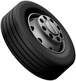 Lorry fore wheel vector image vector image