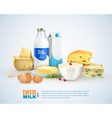 Milk Products Template vector image