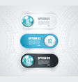 minimal timeline web buttons or option line design vector image vector image