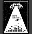 monochrome alien invasion music frame