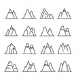 mountains outline set vector image vector image