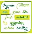 natural labels set vector image vector image