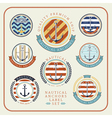 Nautical anchors label set 01 vector image vector image