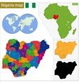Nigeria map vector image vector image