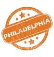 Philadelphia round stamp vector image vector image