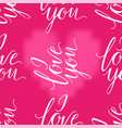 pink heart and i love you inscription seamless vector image vector image