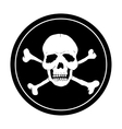 Pirate black mark vector image vector image