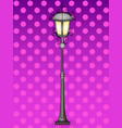 pop art bronze vintage street lamp comic book vector image