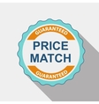 Price Match Quality Label Set in Flat Modern vector image vector image