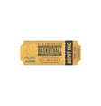 retro ticket on basketball final game isolated vector image
