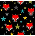 Seamless pattern with hipster foxes vector image vector image