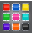 set backgrounds with metal border for app vector image vector image