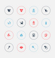 set of 16 editable baby icons includes symbols vector image
