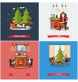 set of Christmas New Years Eve celebration vector image vector image