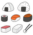set of japanese food vector image vector image