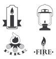 stylish logos depicting fire vector image vector image
