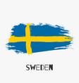 sweden watercolor national country flag icon vector image vector image