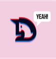 unicorn saying yeah 3d effect cool character vector image vector image
