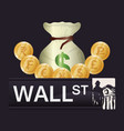 wall street new york investment vector image vector image