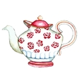 Watercolor teapot on the white backgrounds vector image vector image