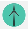 windmill icon vector image