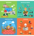 Worker Flat Set vector image