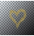 modern gold glitter heart on transparent vector image