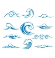 Waves of sea or ocean waves vector image