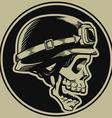 Retro Motorbike Skull Biker Badge vector image