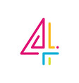 4 logo four number vector image vector image