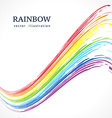 Abstract background with ink rainbow vector image vector image