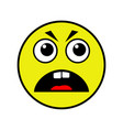 angry smiley on a white background vector image vector image