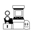 Arcade chest coins ghost video game