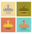 assembly flat icons poker crown royal vector image