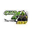 atv quad bike for rent isolated background vector image vector image