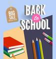 back to school big sale poster design