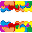 background from heart vector image vector image