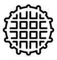 belgian waffle icon outline style vector image